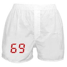 69 sixty-nine red alarm clock Boxer Shorts