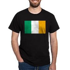 Ireland Flag Black T-Shirt