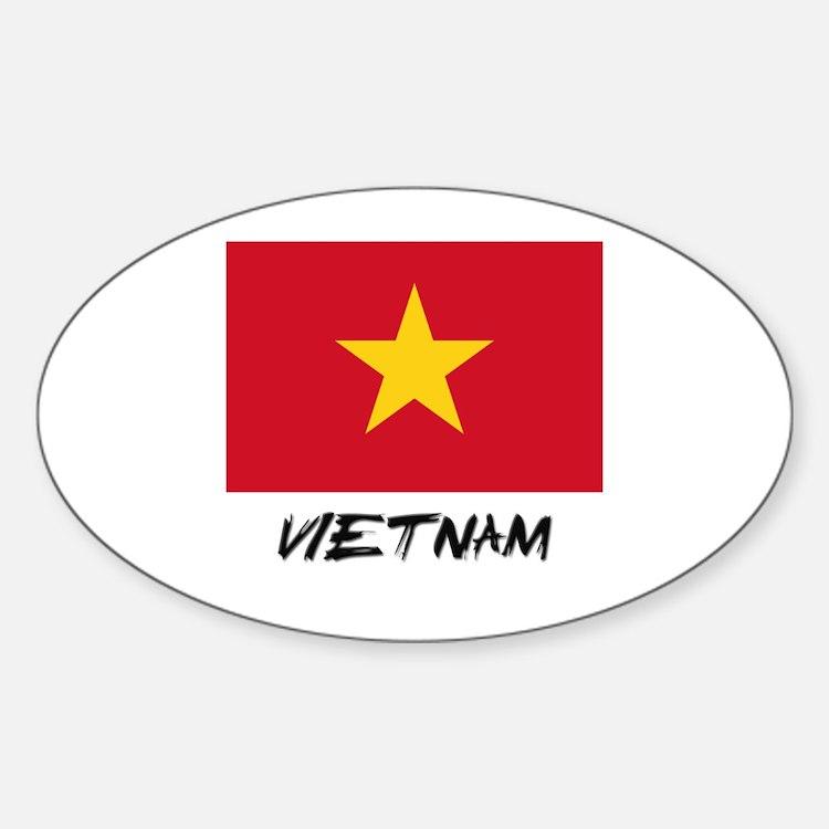 Vietnam Flag Oval Decal