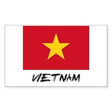 Vietnam Flag Rectangle Decal