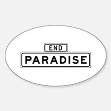 Paradise End, San Francisco Oval Decal