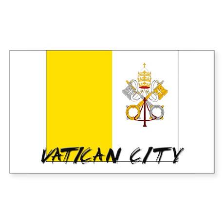 Vatican City Flag Rectangle Sticker