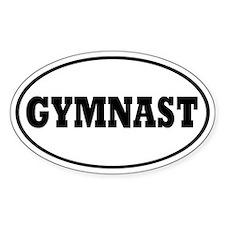 Gymnast Oval Decal