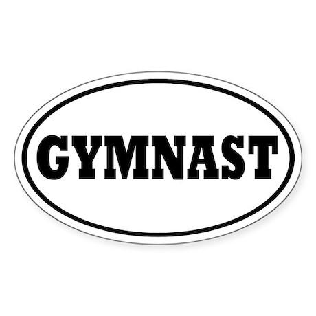 Gymnast Oval Sticker