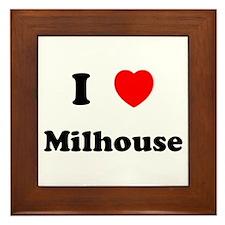 I Love Milhouse Framed Tile