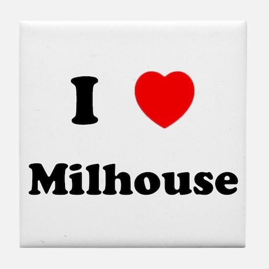 I Love Milhouse Tile Coaster