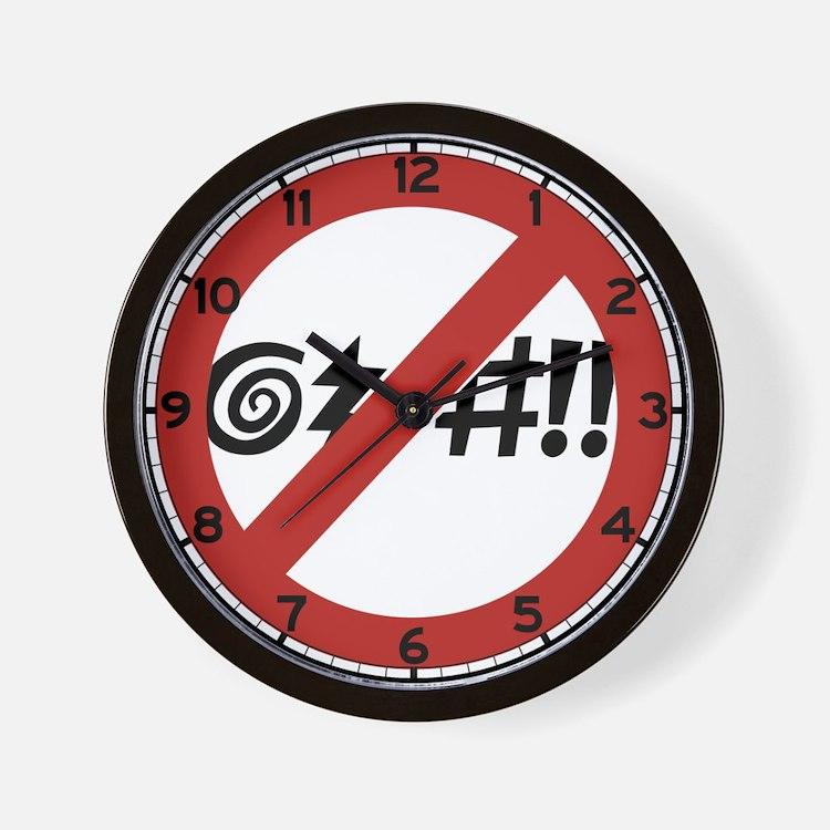 No Cursing Allowed, Virginia Beach, VA Wall Clock