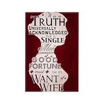 Jane Austen Truth Universal Rectangle Magnet