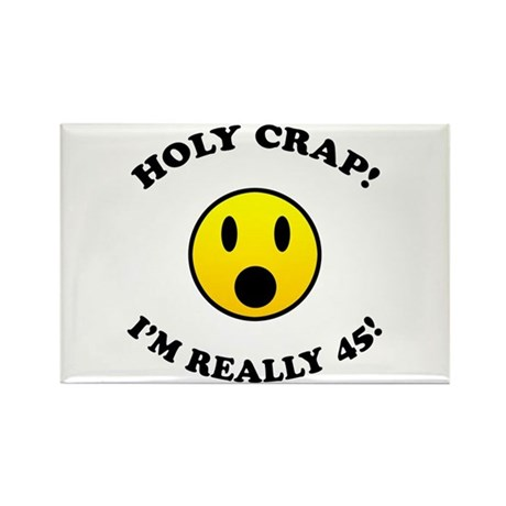 45th Birthday Gag Gifts Rectangle Magnet (100 pack