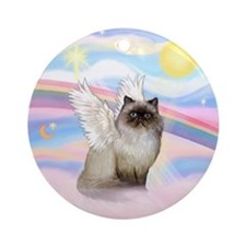 Clouds / Himalayan Cat Ornament (Round)