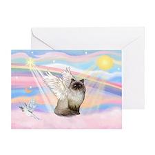 Clouds / Himalayan Cat Greeting Card