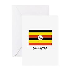 Uganda Flag Greeting Card