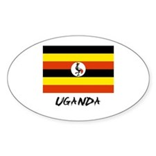 Uganda Flag Oval Decal