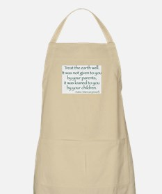 Treat The Earth Well BBQ Apron