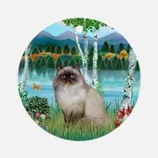Birches / Himalayan Cat Ornament (Round)