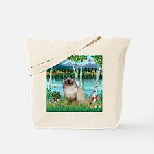 Birches / Himalayan Cat Tote Bag