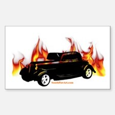 Street Rod 3 Rectangle Decal