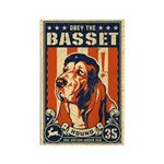 Obey the Basset Hound! Rectangle Magnet