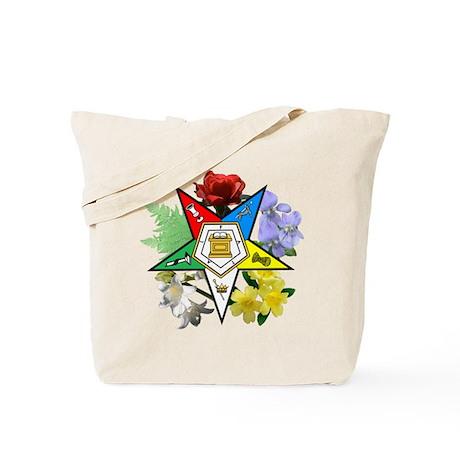 Eastern Star Floral Tote Bag