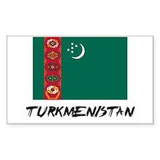 Turkmenistan Flag Rectangle Decal