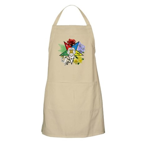Eastern Star Floral Emblems BBQ Apron
