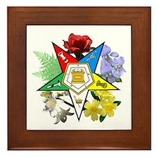 Eastern Star Floral Emblems Framed Tile