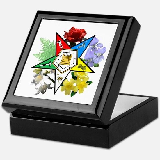 Eastern Star Floral Emblems Keepsake Box