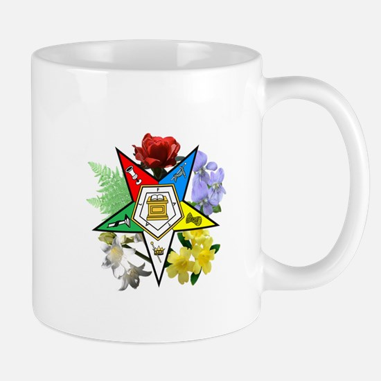 Eastern Star Floral Emblems Mug