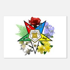 Eastern Star Floral Emblems Postcards (Package of