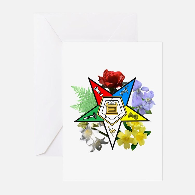 Eastern Star Floral Emblems Greeting Cards (Pk of