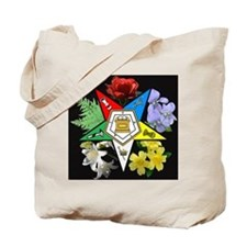 Eastern Star Floral Emblem - Tote Bag