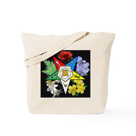 Eastern Star Floral Emblem - Tote Bag