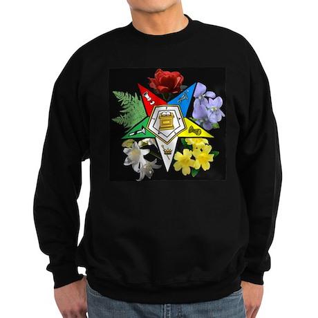 Eastern Star Floral Emblem - Sweatshirt (dark)