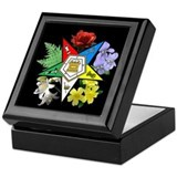 Eastern star Square Keepsake Boxes