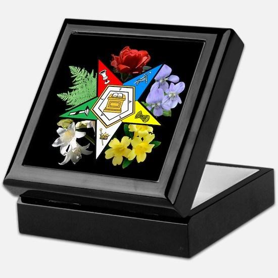 Eastern Star Floral Emblem - Keepsake Box