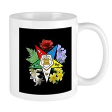 Eastern Star Floral Emblem - Small Mug