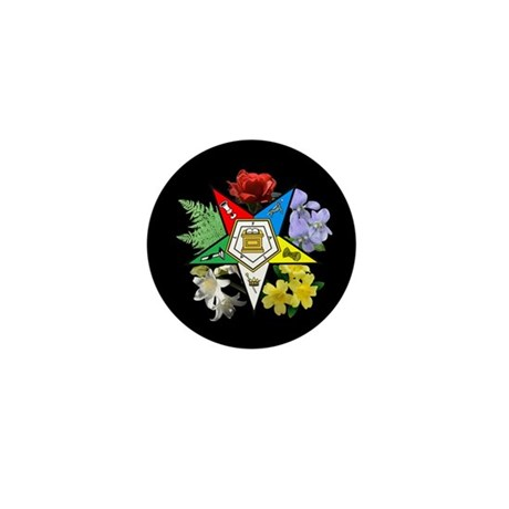 Eastern Star Floral Emblem - Mini Button (100 pack