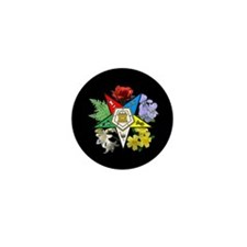 Eastern Star Floral Emblem - Mini Button