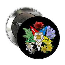 "Eastern Star Floral Emblem - 2.25"" Button"
