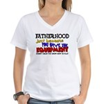 Fatherhood - Equipment Women's V-Neck T-Shirt