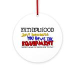 Fatherhood - Equipment Ornament (Round)