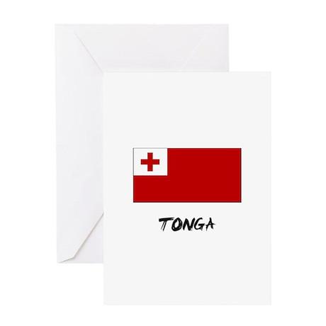 Tonga Flag Greeting Card