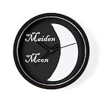 Maiden Moon Wall Clock