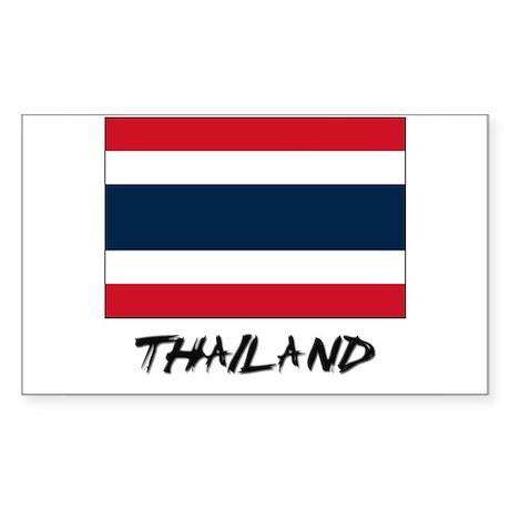 Thailand Flag Rectangle Sticker
