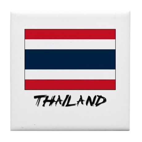 Thailand Flag Tile Coaster