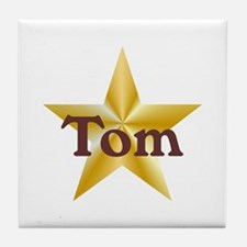 Personalized Tom Tile Coaster