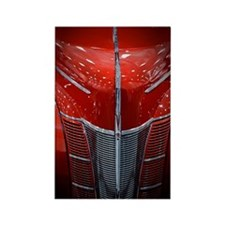 Red Grill Rectangle Magnet