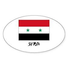 Syria Flag Oval Decal