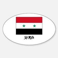Syria Flag Oval Decal