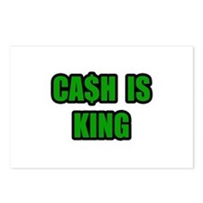"""""""Cash Is King"""" Postcards (Package of 8)"""